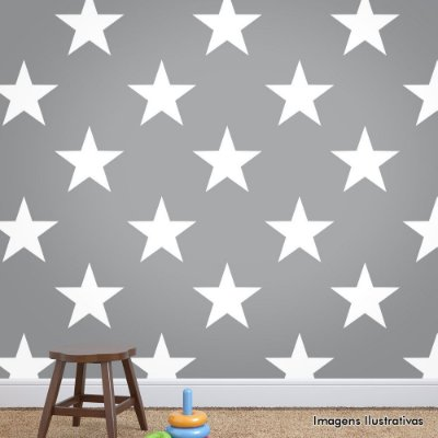Papel de Parede Infantil Estrelas Texturizado Autocolante