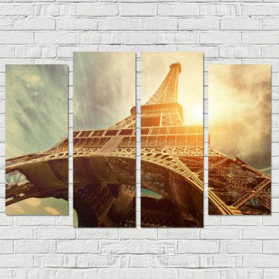 Conjunto de Quadros Decorativo Torre Eiffel  0,70 x 1,00 m