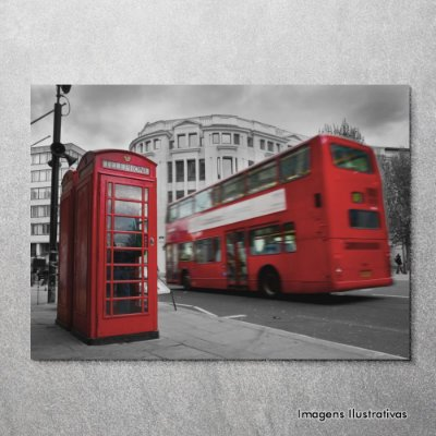 Quadro Decorativo Londres Cabine