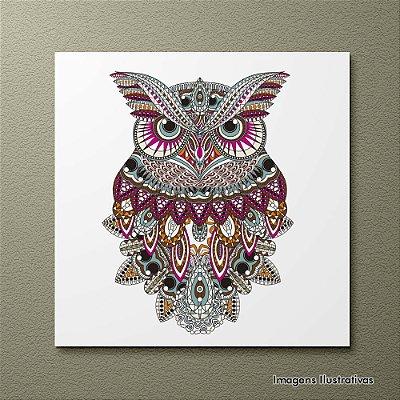 Quadro Decorativo Coruja Indígena
