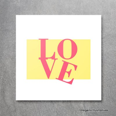 "Quadro Decorativo Frases ""Love"""