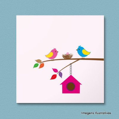 Quadro Decorativo Pássaros