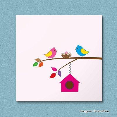Quadro Infantil Pássaros