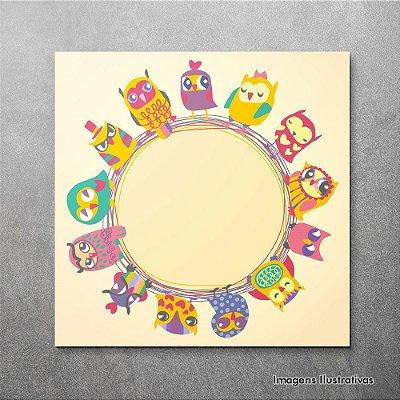 Quadro Decorativo Infantil Circulo de Pássaros