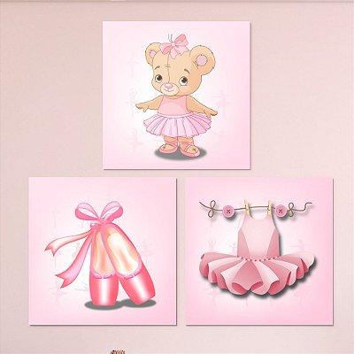 Kit de Quadros Infantil Bailarina