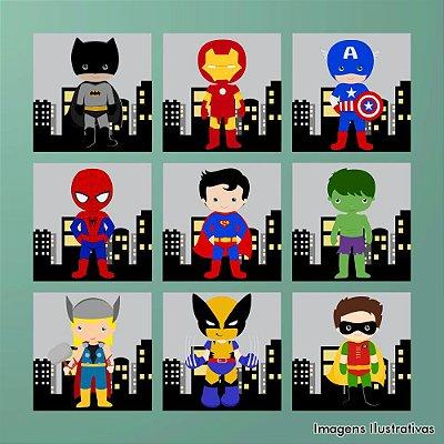 Kit Quadro Decorativo Infantil Super Heróis 5