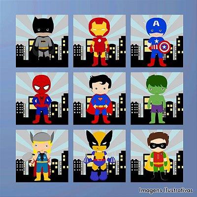 Kit Quadro Decorativo Infantil Super Heróis 3