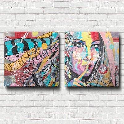 Quadro Decorativo Mulher Abstrato