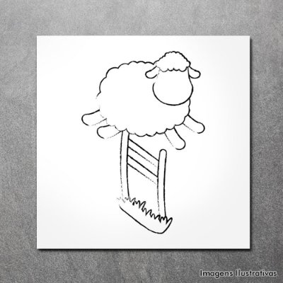 Quadro Decorativo Infantil Ovelha Branca