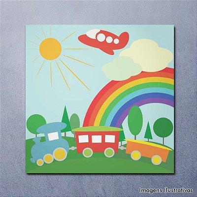 Quadro Decorativo Infantil Menino Trenzinho