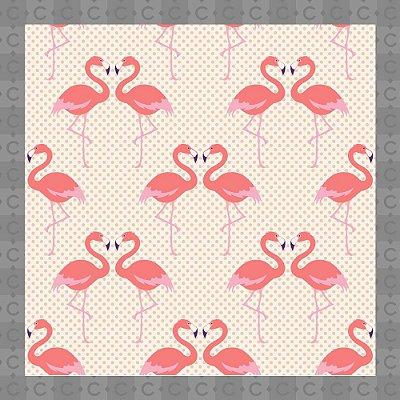 Papel de Parede Texturizado Autocolante Flamingo Rosa