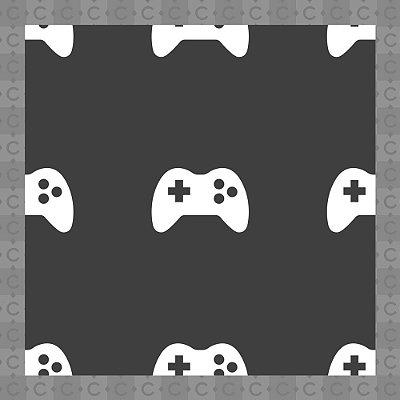 Papel de Parede Infantil Quarto Juvenil Video Game Texturizado Autocolante