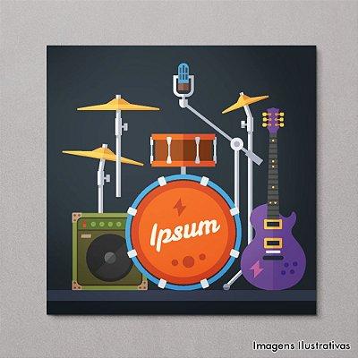 Quadro Decorativo Instrumentos Musicais