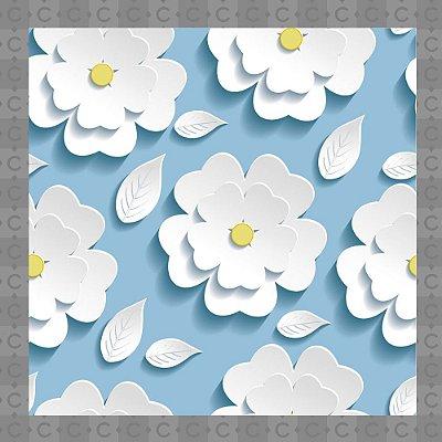 Papel de Parede Texturizado Autocolante Floral Margarida