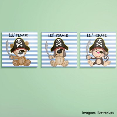 Kit de Quadros Infantil Piratas