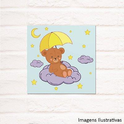 Quadro Decorativo Infantil Urso no Céu