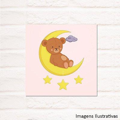 Quadro Decorativo Infantil Urso na Lua