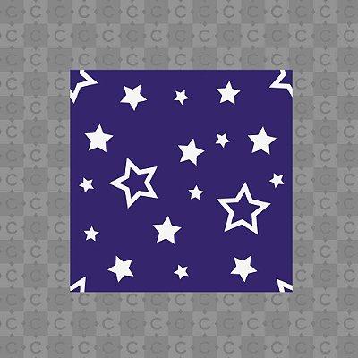 Papel de Parede Texturizado Autocolante Infantil Estrelas com Fundo Roxo