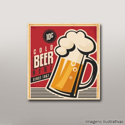 Quadro Decorativo Beer Vintage
