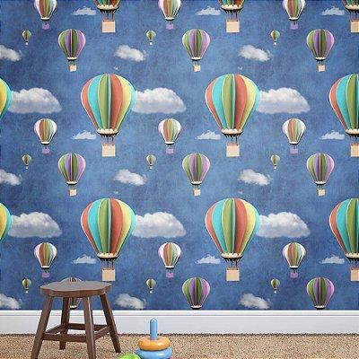 Papel de Parede Texturizado Autocolante Infantil Balões 3D