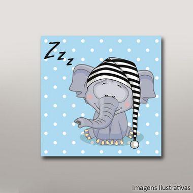 Quadro Infantil Elefante zzz