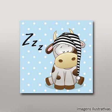 Quadro Infantil Vaca Zzz