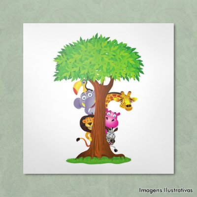 Quadro Infantil Esconde-Esconde Animal
