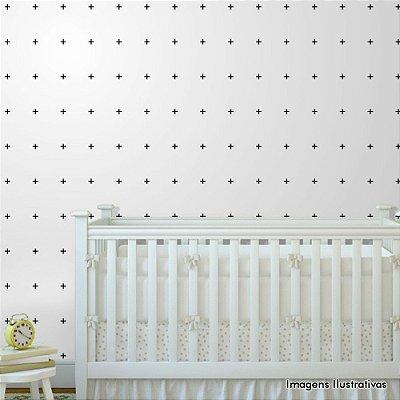 Papel de Parede Infantil Cruzes Texturizado Autocolante