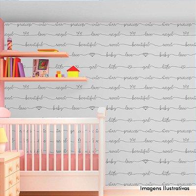 Papel de Parede Infantil Little Girl Texturizado Autocolante