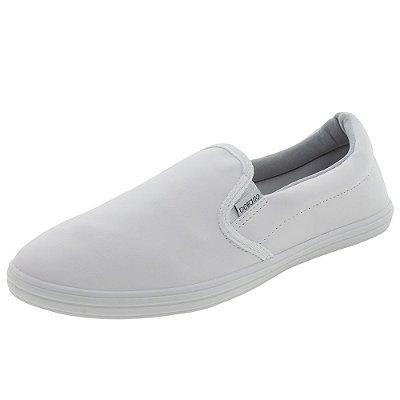 Tenis feminino branco iate slipper slip-on conforto