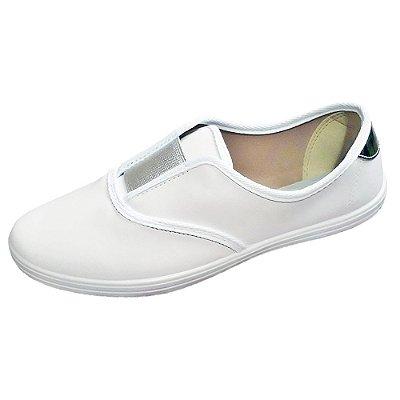 tenis sapatenis branco com elastico feminino enfermagem macio e flexivel