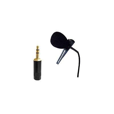 Microfone Lapela P2 Individual para Interactive New Live