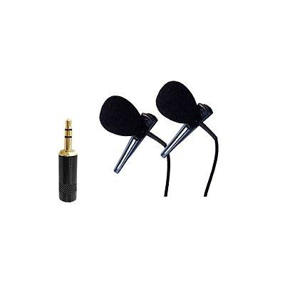 Microfone Lapela P2 duplo para Interactive New Live