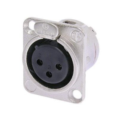 Conector XLR Fêmea Painel NC3FD L 1 NEUTRIK
