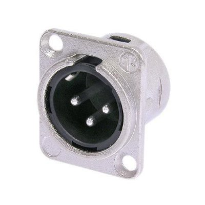 Conector XLR Macho Painel NC3MD L 1 NEUTRIK