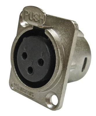 Conector XLR Fêmea Painel WC 1023 WIRECONEX