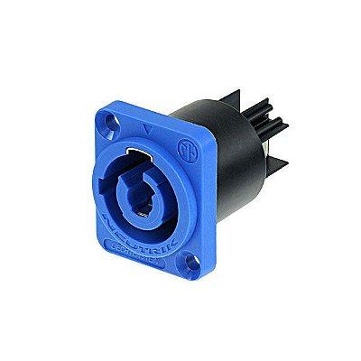 Powercon Painel NAC3MPA 1 NEUTRIK Azul