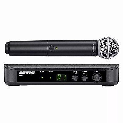 Microfone sem fio SHURE BLX24BR / SM58 J10
