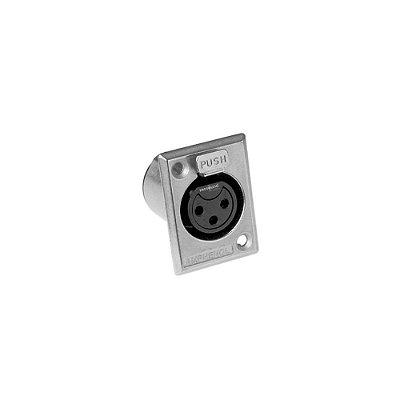 Conector XLR Fêmea Painel AC3FPZ AMPHENOL