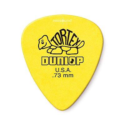 Palheta Dunlop Tortex 0,73 mm Amarela