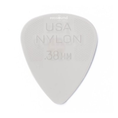 Palheta Dunlop Nylon USA Jim 0,38 mm Branca