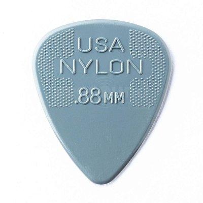 Palheta Dunlop Max Grip 0,88 mm Nylon Cinza