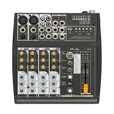 Mesa de Som Soundcraft 6 canais SX 602 FX USB