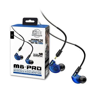 Fone de Ouvido Mee Audio M6 PRO G2 2ª Geração Blue
