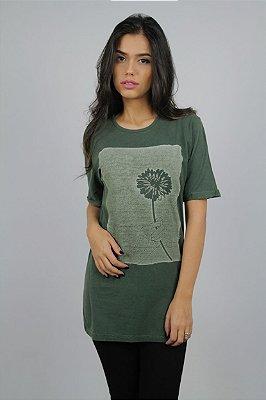 Camiseta Flores em Vida · Verde · Feminina