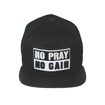 Boné No Pray No Gain Preto Aba Reta