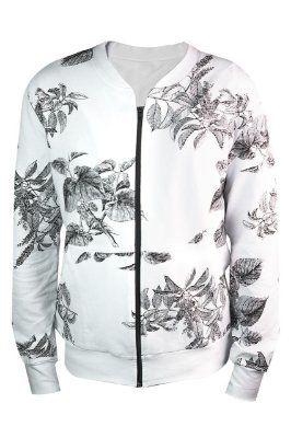 Bomber Floral P&B