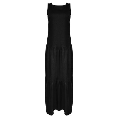 Vestido Preto em Linho