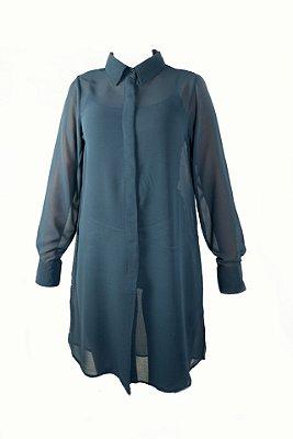 Maxi camisa azul