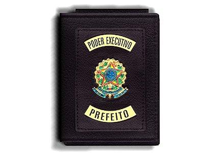 Carteira Premium Funcional Personalizada com Brasões para Prefeito